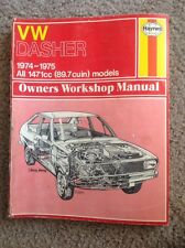 1974-1975 VW DASHER HAYNES REPAIR MANUAL # 238