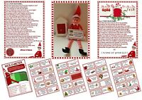 Personalized Naughty Elf Christmas Welcome Goodbye Cards Nice Meter Door