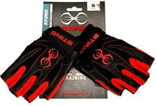 Sting Atomic Mens Gloves Small Training Exercise Lifting Half Finger Grip S