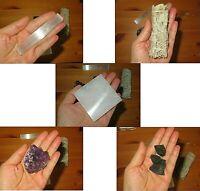 Healing Crystals  and smudge kit Hemathyst/Selenite/White Sage/Tourmaline
