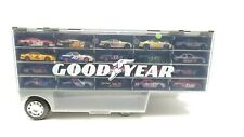 Hotwheels Goodyear Carrier 2 Sided w/ Nascars Storage Case with 34 Cars