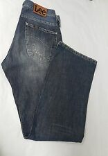 Men's Lee Jeans Size W30 L32 Lee Premium Quality Denim Men's Blue Jeans Trousers