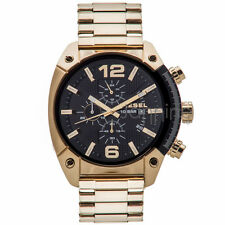 Diesel Authentic Watch DZ4342 Men's OverFlow Gold Stainless Steel Chronograph