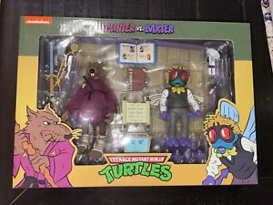 NECA TMNT Target Exclusive SPLINTER & BAXTER STOCKMAN Figure 2-Pack