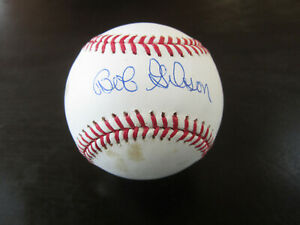 Bob Gibson Autograph Signed Baseball St. Louis Cardinal Name Only