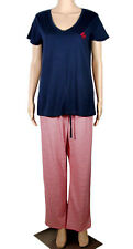 Tommy Hilfiger Sleepwear 3 pc Pajamas Top Pants Shorts Medium $72 Red White Blue