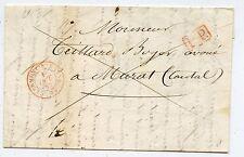 LETTRE ANCIENNE / CLERMONT FERRAND / MURAT 1842  AVEC COURRIER