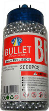 1 Tub of 2000 Silver 0.15g Plastic 6mm BB Gun Pellets - Fits most BB Guns - New