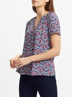 New WEEKEND by John Lewis Daisy Floral Chain Top, Navy Blue, UK 10, RRP £49