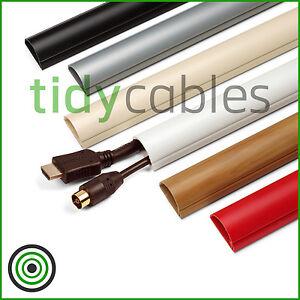 D-Line 30x15 TV Cable Tidy Cover Wire Hide Trunking 25cm 50cm 75cm 90cm Lengths