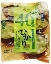 Hikari instant delicious miso soup healthy soybean low-salt 40pc F/S from Japan