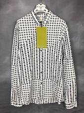 NWT Marni for H&M Shirt Black & White Geometric Print Button Down Unisex NEW XL