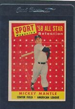 1958 Topps #487 Mickey Mantle All-Star VG/EX 58T487-90215-1