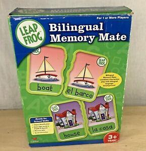 Leapfrog Bilingual Memory Mate Game English and Spanish Match Game Bilingual