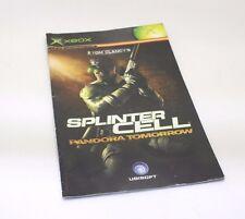 Splinter cell Pandora Tomorrow manual instruccion XBOX first edition microsoft