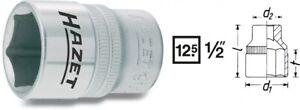 "Hazet Insert-Clé 12,5mm 1/2 "" Außen-sechskant-tractionsprofil 9"