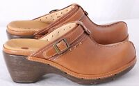Clarks Unstructured 86663 Unevident Tan Leather Slip on Clog Mules Women's 6 M