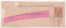 Österreich Ganzsache Streifband 1908 Wien VII-1 nach Pirna Sachsen DR ! (B7