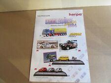 397L Rare Herpa Folding 2 Pages Sammlerbörse 01/02 1994