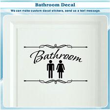 Bathroom Restroom Toilet Door Sign Art Vinyl Home Decor Wall Sticker Decal S119