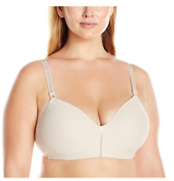 Olga Plus Size Women's No Side Effects Wire Free Contour Bra