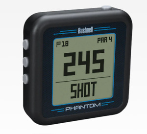 Bushnell Golf Phantom GPS. Black with Bite Magnet Handheld Certified Refurbished