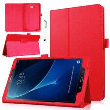 """For Samsung Galaxy Tab E/Tab 3 Lite 7"""" T111 T113 Leather Case Cover Stand -Red"""