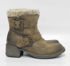"NEW Womens ROXY ""Scout"" Taupe Fashion Winter Ankle Boots Size 6.5"