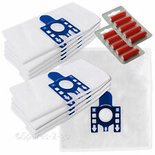 10 MIELE GN Compatible Vacuum Cleaner Microfibre DUST BAGS & 10 Air Fresheners