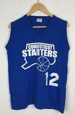 VINTAGE RETRO USA CONNECTICUT STARTERS BASKETBALL SPORTS T SHIRT VEST TOP S