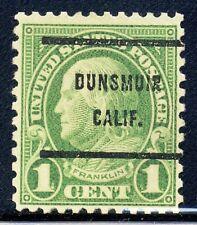 Dunsmuir CA, 632-61 Bureau Precancel, 1¢ Franklin