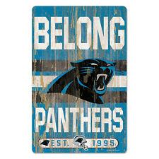 Nfl Carolina Panthers Slogan Wood Sign Wooden Wall Decoration Decor Football