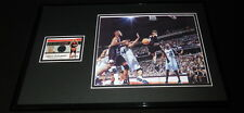 Allen Iverson Framed 11x17 Game Used Jersey & Photo Display 76ers