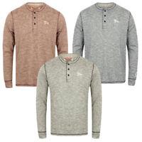 New Men's Tokyo Laundry Roosevelt T-shirt Long Sleeve Henley Top Size S-XL