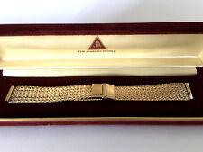 """JB Champion Watchband Gold Filled Mesh Omega 16mm 7""""-8"""" NOS Vintage Original Box"""