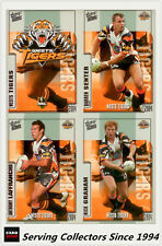 2004 Select NRL Authentic Trading Cards Base Team Set West Tigers(12)