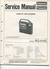 Vintage Panasonic SERVICE MANUAL- Model RQ-314S Tape Recorder- Cassette
