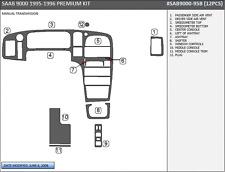 PREMIUM WOOD DASH TRIM KIT 12 PCS FITS SAAB 9000 1995-1996 MANUAL TRANSMISSION