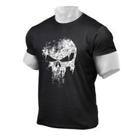 Men's Casual Cotton Round Neck T-shirt Fitness Muscle Bodybuilding Workout Tee