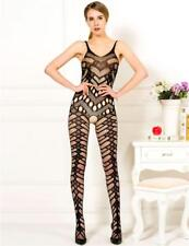 Black Cut Outs and Zig Zag Crotch-less Body Stocking Bodystocking