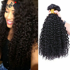 150g Peruvian Human Hair Bundle Kinky Curly Virgin Hair Extension Shipping Free