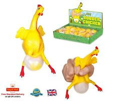 1 x EGG LAYING RUBBER CHICKEN Stress Relief Ball Fidget EDC ADHD Autism Toy Gift