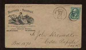 1880 Agricultural Journal Hospodar Americky Bohemian Historical Cover Stamp #136