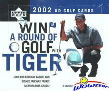 2002 Upper Deck Golf Factory Sealed 4 Box Retail CASE-Look for Tiger Woods Auto