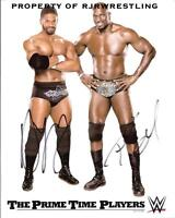WWE THE PRIME TIME PLAYERS SIGNED 8X10 PROMO PHOTO TITUS ONEIL & DARREN YOUNG