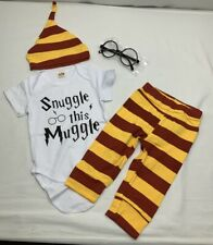 Snuggle This Muggle Infant Baby Harry Potter Outfit 6-9 Mo