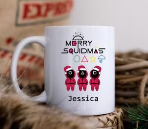 Personalised Squid Game Mug Cup Merry Squidmas TV Show Christmas Mug