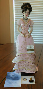 Franklin Mint Faberge Imperial Sofia Porcelain Doll - COA