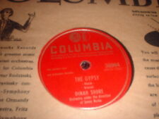 78RPM 2 Columbia by Dinah Shore,Gypsy/Laughing Outside,Golden Earrings,Gentlem V