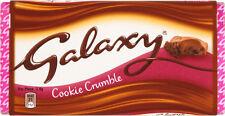 Galaxy galleta Crumble Leche Tableta de chocolate 3x 114g